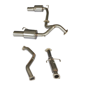 Cat Back Exhaust ~02-06 Hyundai Tiburton Dual Stainless Steel 201 Mirror Polished Exhaust System