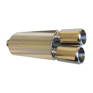 Dual Universal Stainless Steel 201 Car Exhaust Muffler
