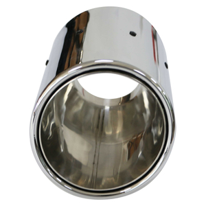 GRWA High Stainless 201double Wall Mirror Polished Car Exhaust Tip