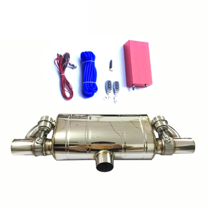 Universal Stainless Steel 304 Exhaust Muffler with Cutout Valve