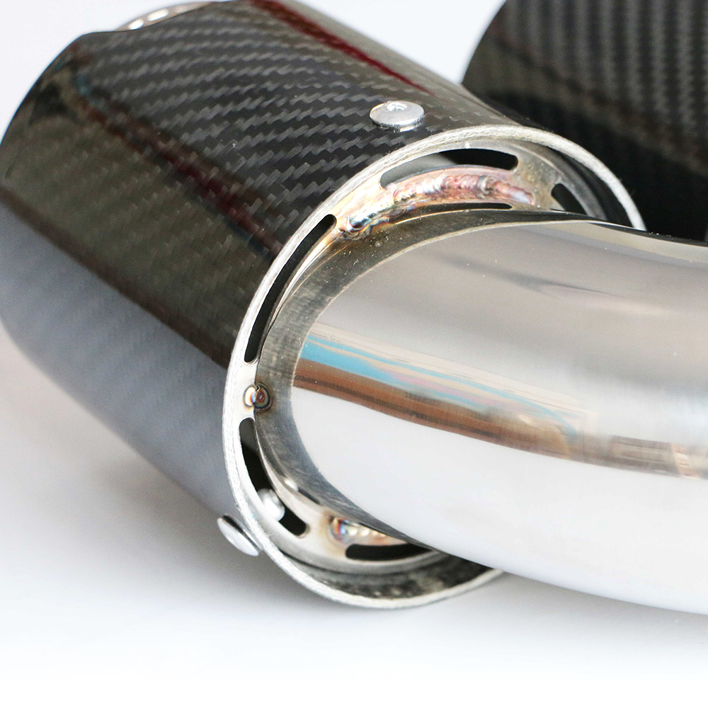 High Quality Stainless Steel 304 Carbon Fiber Exhaust Tip